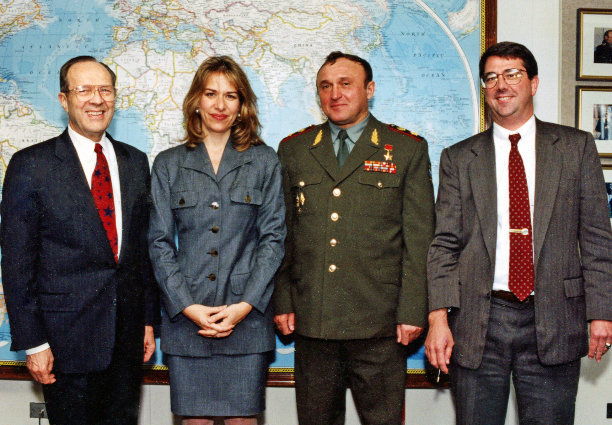 William Perry, Elizabeth Sherwood-Randall, Gen. Grachev, and Ash Carter