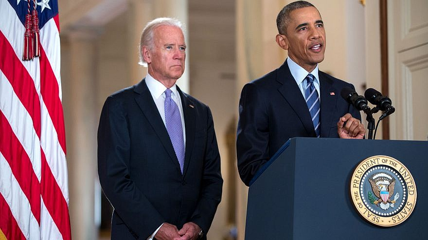 President Obama and Vice-President Biden announcing Iran Deal